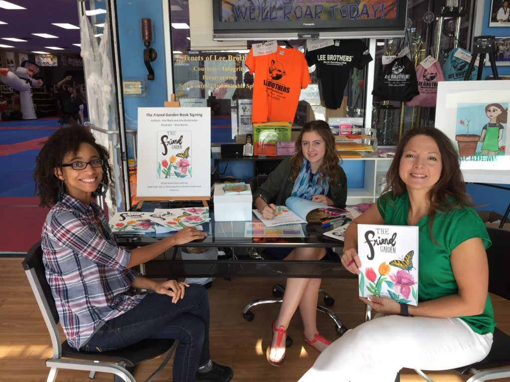 Ana, Nina, & Kim at 1st The Friend Garden book signing event!